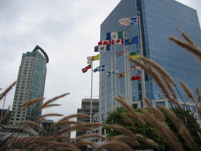 Canada Place Flag Pond photo