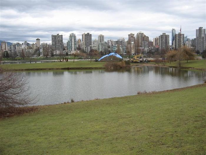 Vanier Point Pond and Bridge photo